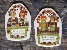 Two Turi Design Figgjo Flint Folklore Ceramic by KitschMerchant, $18.00
