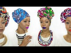 4 Quick & EASY Headwrap/Turban Styles (Short Natural Hair & TWA Friendly) - YouTube