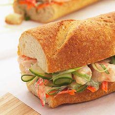 Lunch on the Go: Healthy Sandwich and Wrap Recipes; buffalo and thai peanut sauce