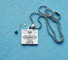 Men Necklace, Dog Tag Necklace, Pendant Necklace, Gifts For Husband, Fathers Day Gifts, Hand Stamped Necklace, Metal Necklaces, Dog Tags, Personalized Gifts