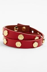 Tory Burch Logo Leather Wrap Bracelet - lovely