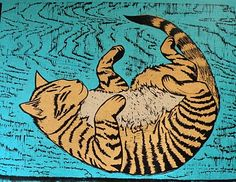 love cats--great chin colle print by by Viza Arlington.