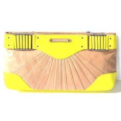 Rebecca Minkoff Park Avenue Clutch! NWT! STILL IN ORIGINAL PACKAGING!!!!    Rock this BRAND NEW clutch in style this spring and summer. Vibrant yellow color makes the best and bold statement at your next event!! My ex bought this for me for Christmas 2015 and we broke up right after. It literally sits in the box waiting for its first use!!!!!! Magnetic closure with Raised stitch details, Leather covered chain-link details at top Fully lined interior with a zip pocket and a slip pocket. It is…