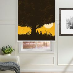 Under The Shade Of The Tree Printed Roller Blind  #rollerblinds #homedecor #interiordesign