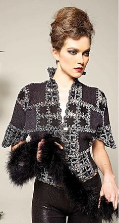 Modell 122 Damenjacke pattern by Johanna Schwarz - Crochet Coat, Crochet Fabric, Crochet Winter, Freeform Crochet, Love Crochet, Crochet Clothes, Sewing Pants, Blouse And Skirt, Fashion Moda