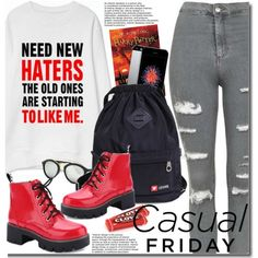 A fashion look from September 2016 by beebeely-look featuring Topshop, casual, Sweatshirt, casualfriday, backpacks and twinkledeals