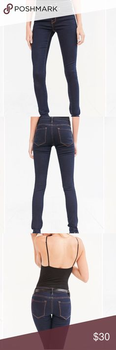 Urban Outfitters High waisted skinny jeans Classic blue jean in skinny fit with high waist. Only worn a couple times and in great condition!! They do have some stretch and hug your body. Finished in copper stitching. Urban Outfitters Jeans Skinny