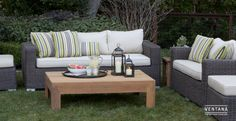 Sausalito wicker deep seating chairs and sofas built with aluminum frames