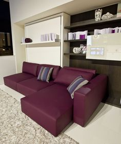 Living Room Interior Design for Small Spaces (murphy bed)