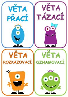 Hlasovací kartičky - druhy vět.docx Primary Teaching, Primary School, Teaching Ideas, Funny Kids, 2 In, Montessori, Homeschool, Language, Classroom
