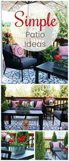 Small Patio Decorating Ideas on a budget Budget friendly outdoor living Deck living Outdoor room Outdoor conversation sets outdoorpatioideasonabudget Small Patio Ideas On A Budget, Patio Decorating Ideas On A Budget, Budget Patio, Diy On A Budget, Decor Ideas, Backyard Ideas, Modern Backyard, Tight Budget, Fence Ideas