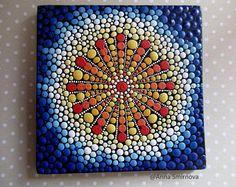ORIGINAL. Mandala Of Rebirth . A unique technique dot art.