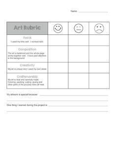 Art Rubric for Elementary - - http://www.oroscopointernazionaleblog.com/art-rubric-for-elementary/