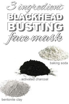 An easy three ingredient blackhead busting face mask that you can make with pantry staples from http://www.goingzerowaste.com