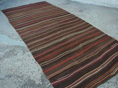 330 x 160 cm - 10.9 x 5.3 feet Natural Handwoven Large Kilim Rug,Accent Rug,Boho Throw Rug,Natural Wool with Stripes,Anatoian Rug,Nomad Rug by zkrugs on Etsy https://www.etsy.com/listing/258161148/330-x-160-cm-109-x-53-feet-natural
