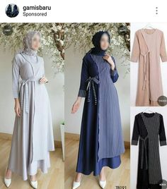 Ideas For Fashion Hijab Style Simple Chic Muslim Women Fashion, Modern Hijab Fashion, Batik Fashion, Abaya Fashion, Modest Fashion, Fashion Dresses, Trendy Fashion, Mode Batik, Simple Long Dress