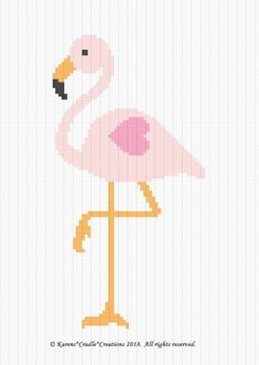 CROCHET PATTERNS - FLAMINGO Baby GIRL Graph Afghan Pattern *EASY* - $6.00. PINK FLAMINGOBaby Afghan Pattern Original graph pattern artwork © Karens*Cradle*Creations, 2018. All rights reserved. Up for auction is a GRAPH PATTERN that I created. This graph pattern will make a beautiful heirloom afghan done in single crochet, the afghan or Tunisian crochet stitch, knit, or counted cross stitch onto the background. High quality color print. Includes basic helpful hints and instructions sent in a…