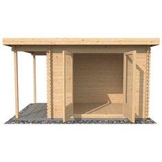 OXFORD CABINS - 9ft x 8ft (3m x 2.5m) Zen Log Cabin (Single Glazing) with FREE Felt (34mm T&G)