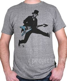I've never seen this Abraham Lincoln t-shirt. A rockin' design from ProjectShirt.com #AbeLincoln #Tshirt