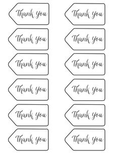 graphic regarding Free Printable Thank You Tags for Favors referred to as 39 Great thank on your own tag photos in just 2018 Stickers, Wrapping