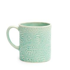 Invisions of having my morning cup of coffee on the back deck in this summer beauty! Aqua Aegean Mug Pretty Mugs, Chapters Indigo, Happy Kitchen, Home Design Decor, I Love Coffee, Summer Beauty, Beach House Decor, Mug Shots, Summer Colors