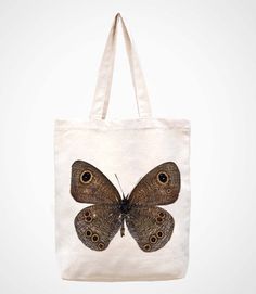 The butterfly -----handmade bag/canvas bag/tote bag/canvas tote bag/shopping bag/women bag/laptop bag