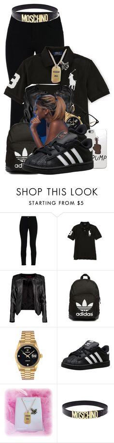 """"" by aniahrhichkhidd ❤ liked on Polyvore featuring STELLA McCARTNEY, Boohoo, adidas Originals, Rolex, Queen Bee, Moschino and Ray-Ban"