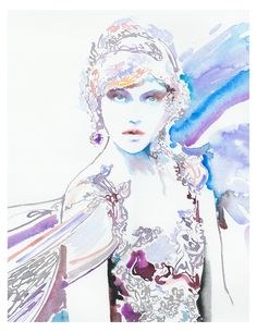 Print of Watercolor Fashion Illustration by silverridgestudio Watercolor Fashion, Watercolor And Ink, Watercolor Illustration, Fashion Sketches, Fashion Illustrations, Illustration Fashion, Paper Culture, Watercolor Portraits, Lovers Art