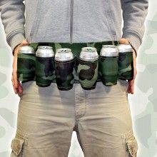 Cinturon camuflaje para cervezas
