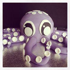 Tarta pulpo fondant. Octopus fondant cake