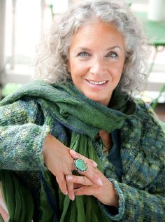 JUDI KADDEN grey hair, silver hair I can totally see myself like this years from now