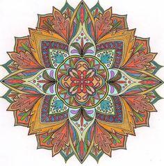 ColorIt Mandalas to Color Volume 1 Colorist: Betty Lemmerz Peregrina #adultcoloring #coloringforadults #mandalas #mandala #coloringpages
