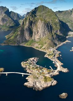 Reine, Norway Inspiration for the northern coastline/peninsula connecting place of Lamaria.