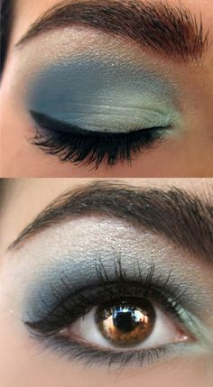 Blue smokey eye for brown eyes, although i'd do it a lil different to better blended!
