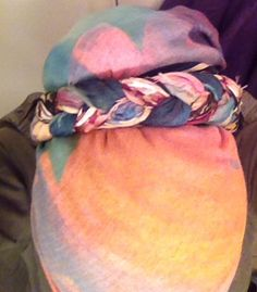 These two scarves are fast becoming my favorite workaday wrap ...