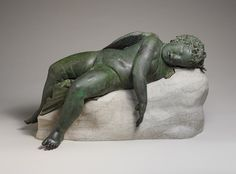 Statue of Eros sleeping, Hellenistic, 3rd century B.C.–2nd century B.C.  Greek  Bronze