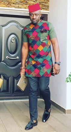 Kitenge Designs for See Over 150 Kitenge Design Photos African Shirts For Men, African Dresses Men, African Attire For Men, African Clothing For Men, African Wear, Kitenge, Nigerian Men Fashion, African Print Fashion, Ankara Styles For Men