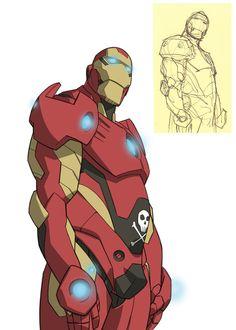 Iron Man Manga Style