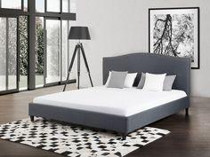 Łóżko szare - 180x200 cm - łóżko tapicerowane - MONTPELLIER
