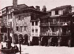 Praza de Cervantes. Casas de Altamira (1884) Fotos antiguas de Santiago de Compostela