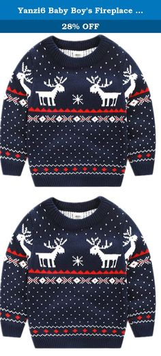 Yanzi6 Baby Boy's Fireplace Lovely Sweater for Christmas Best Gift (3-4 Years, Dark Blue Deer). If you are looking for a unique gift for a friend or family member, you've found the right place! prints for couples and best friends, new parents, birthdays, special occasions, baby showers, joyous announcements, awesome off-beat slogan prints, humorous funny shirts, and every day gift ideas. Our designs are available on a wide range of apparel; t-shirts, hoodies, sweatshirts, workout & gym…