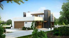 #Projekt TIX-526 funkcjonalny piętrowy dom w nowoczesnym stylu. Ciekawe elementy wykończenia elewacji nadają mu wyjątkowego charakteru. Projekt wyróżnia obszerny taras nad garażem, dostępny zarówno z poziomu piętra jak i z ogrodu. Zobacz więcej!