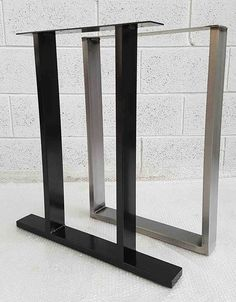 "Table / Bench legs Designer Retro Rustic Steel Metal Industrial ""The Sherwood Leg"" Table legs wide . Dining Table With Bench, Dining Table Chairs, Bench Legs, Coffee Table Legs, Wood Screws, Steel Metal, Rustic, Ebay, Retro"