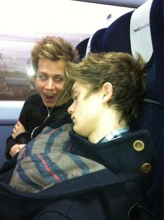 Awwww Connor sleeping and then theres James?