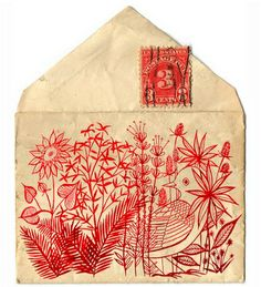 envelope, envelope art, letter, letter art, art, drawing, envelope drawing by LLK-C
