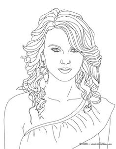 Taylor Swift Coloring page | outline | Coloring pages, Adult ...