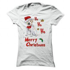 Christmas Labrador T Shirts, Hoodies. Check price ==► https://www.sunfrog.com/Pets/Christmas-Labrador-White-Ladies.html?41382 $19
