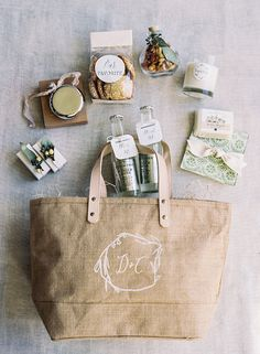 A Signature Welcome gift, Botanical Wedding at Cannon Green Charleston with Easton Events and Eric Kelley
