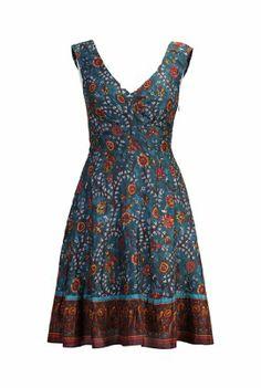 eShakti Women's Ethnic floral vine print dress XS-2 Regular Deep teal multi eShakti http://www.amazon.com/dp/B00KE4PDT0/ref=cm_sw_r_pi_dp_SxCJtb1A11Z0NW3F