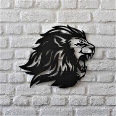 Roar lion – Art – Art is my life. Metal Wall Decor, Metal Wall Art, Fierce Lion, Lion Wall Art, Roaring Lion, Laser Art, Wall Accessories, Plasma Cutting, Lion Tattoo